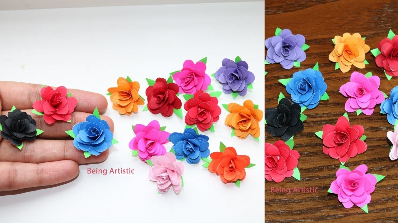How To Make Small Paper Rose Flower Diy Handmade Craft Paper Craft Youtube In 2020 Tissue Paper Flowers Diy Paper Flowers Diy Easy Paper Flowers Craft