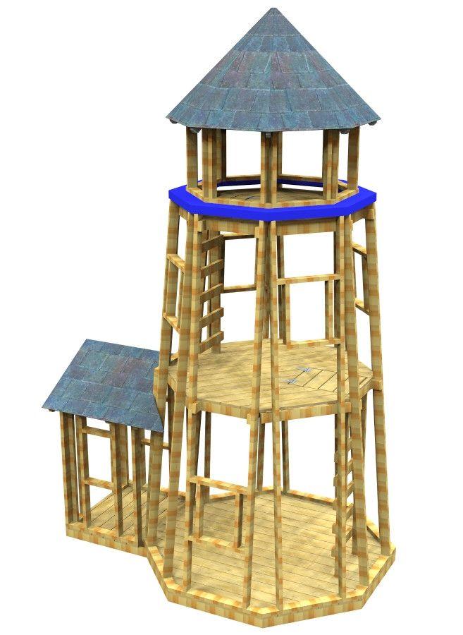 chesapeake lighthouse plan clay pot lighthousediy playhouseplay - Lighthouse Playhouse Building Plans