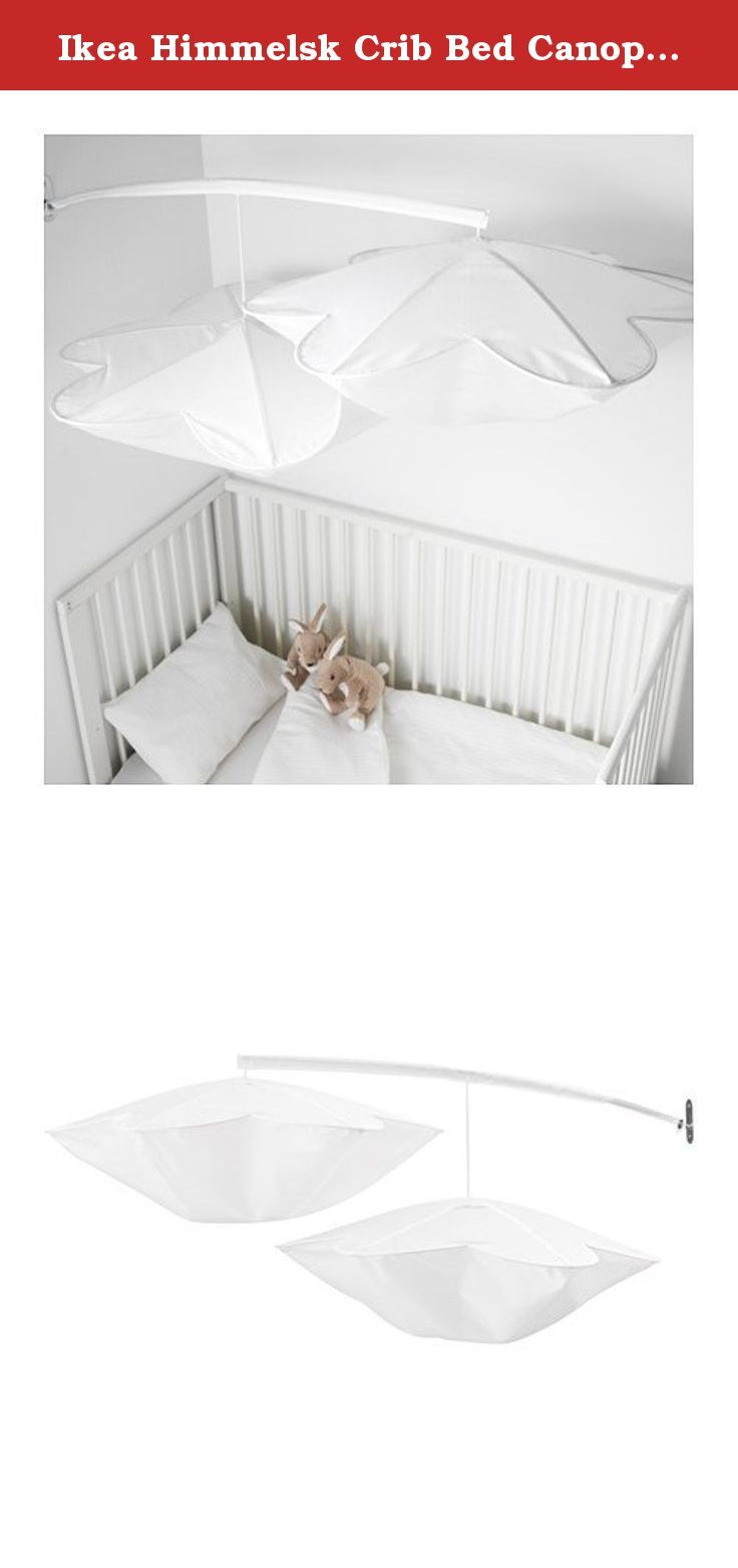 Ikea Himmelsk Crib Bed Canopy white. This crib canopy made by Ikea  sc 1 st  Pinterest & Ikea Himmelsk Crib Bed Canopy white. This crib canopy made by ...