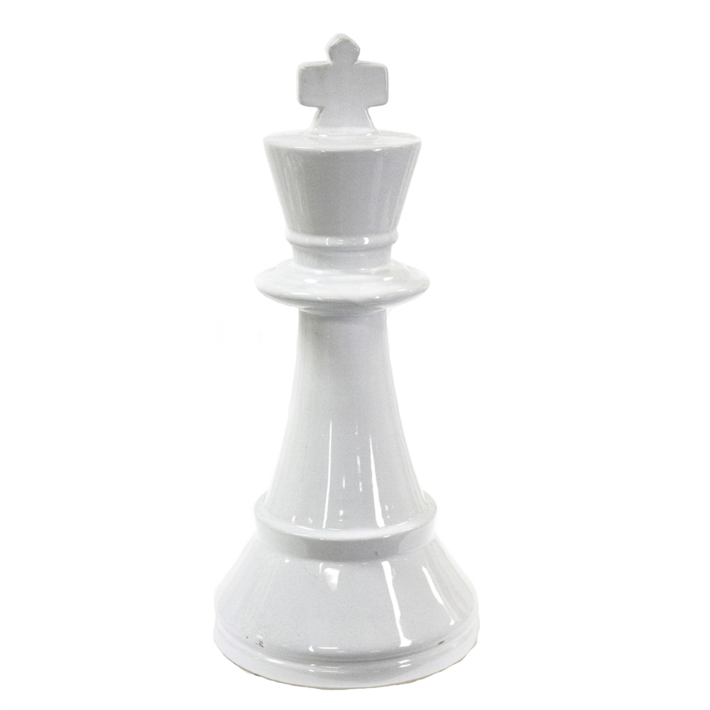 Large White King Chess Piece Sagebrook Home King Chess Piece Sagebrook Home White Ceramics
