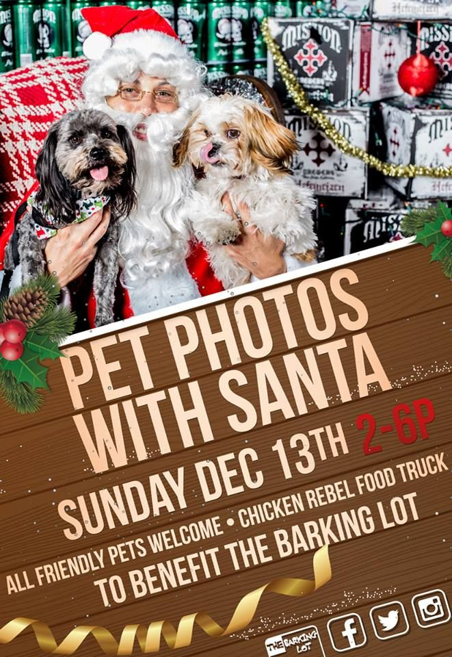Pet Photos with Santa! on DECEMBER 13th at Mission Brewery! Celebrate the holiday season by bringing your dogs to meet Santa.