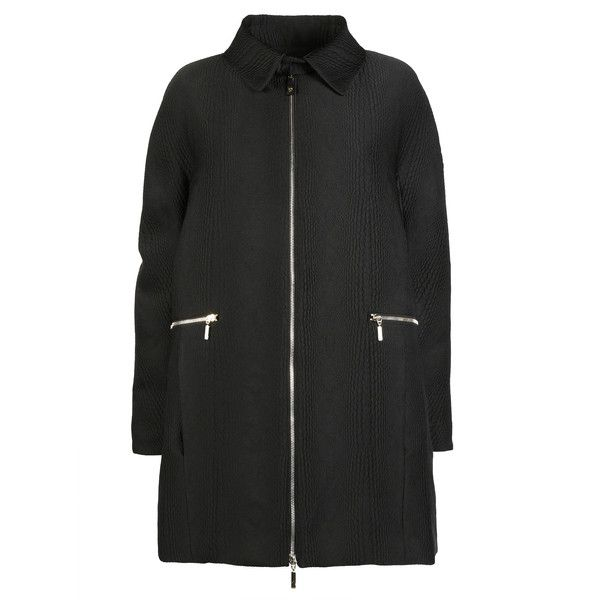 Moncler Gamme Rouge Coats ($1,740) ❤ liked on Polyvore featuring outerwear, coats, black, black coat, moncler gamme rouge и jacquard coat