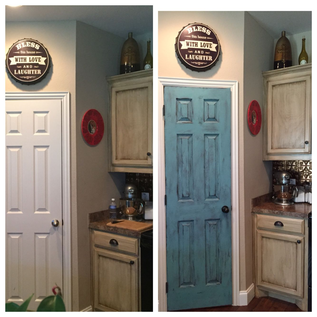 Glazed Kitchen Cabinets Vs White: What A Huge Difference A Little Paint Can Make! Plain
