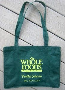 1ce4571acff Discontinued WHOLE FOODS Reusable Shopping Bag BOULDER COLORADO Side ...