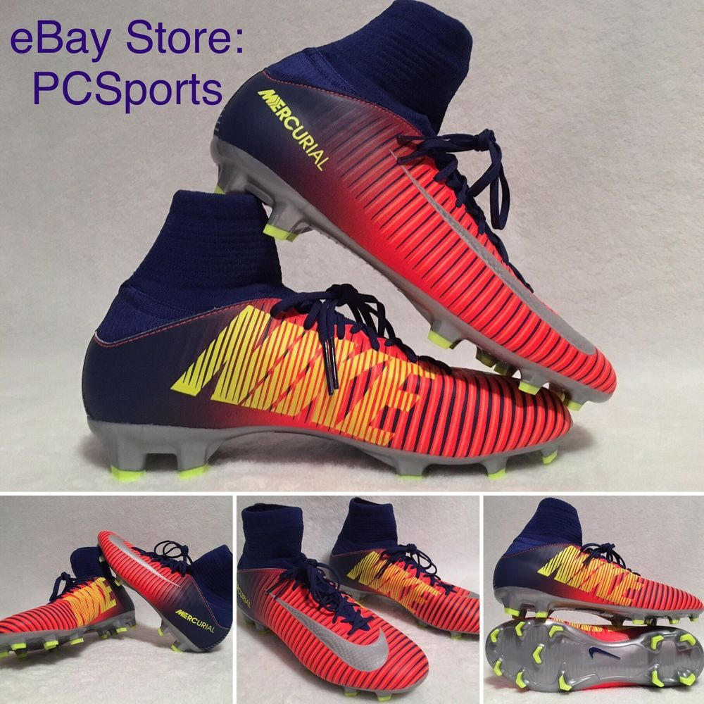 d080ad6c69b0 Youth Nike Mercurial Superfly V FG Soccer Cleats 831943-409 Size 4.5Y | eBay