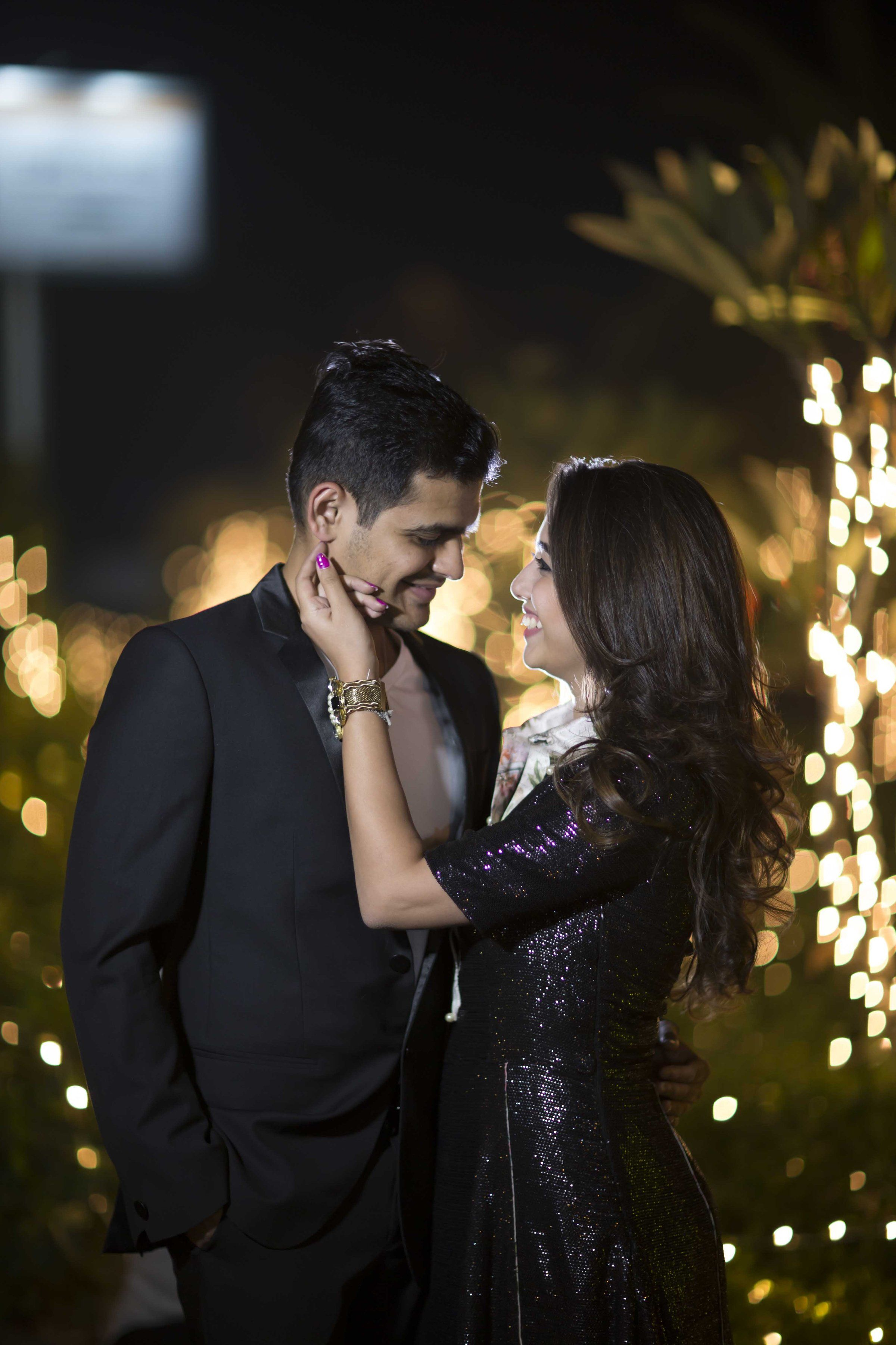 The Couple Dressed In Glamorous Outfits For Their Pre Wedding