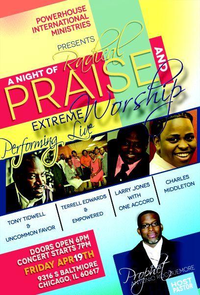 gospel+concert+poster+design Gospel concert flyer design Posters