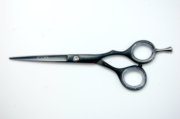 Icon 5 5 Right Handed Black Matte Off Set Handle Shears Scissors Scissors Shears Scissors Shears