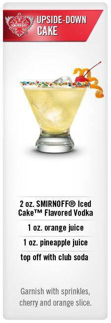 Smirnoff UpsideDown Cake cocktail recipe with Smirnoff Iced Cake