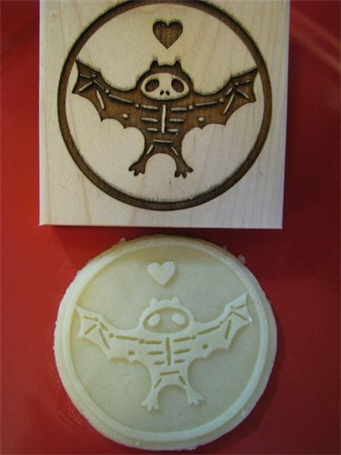 My Cookie Mold Skeleton Bat Stamp 20