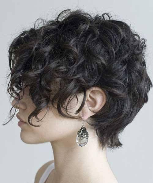 Long Pixie Cut Curly