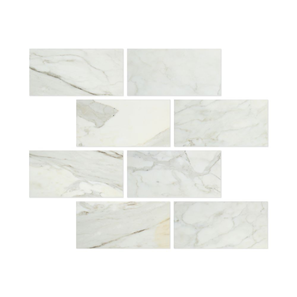 6 X 12 Polished Calacatta Gold Marble