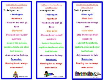 Reading Comprehension-When Reading Doesn't Make Sense Strategies ...