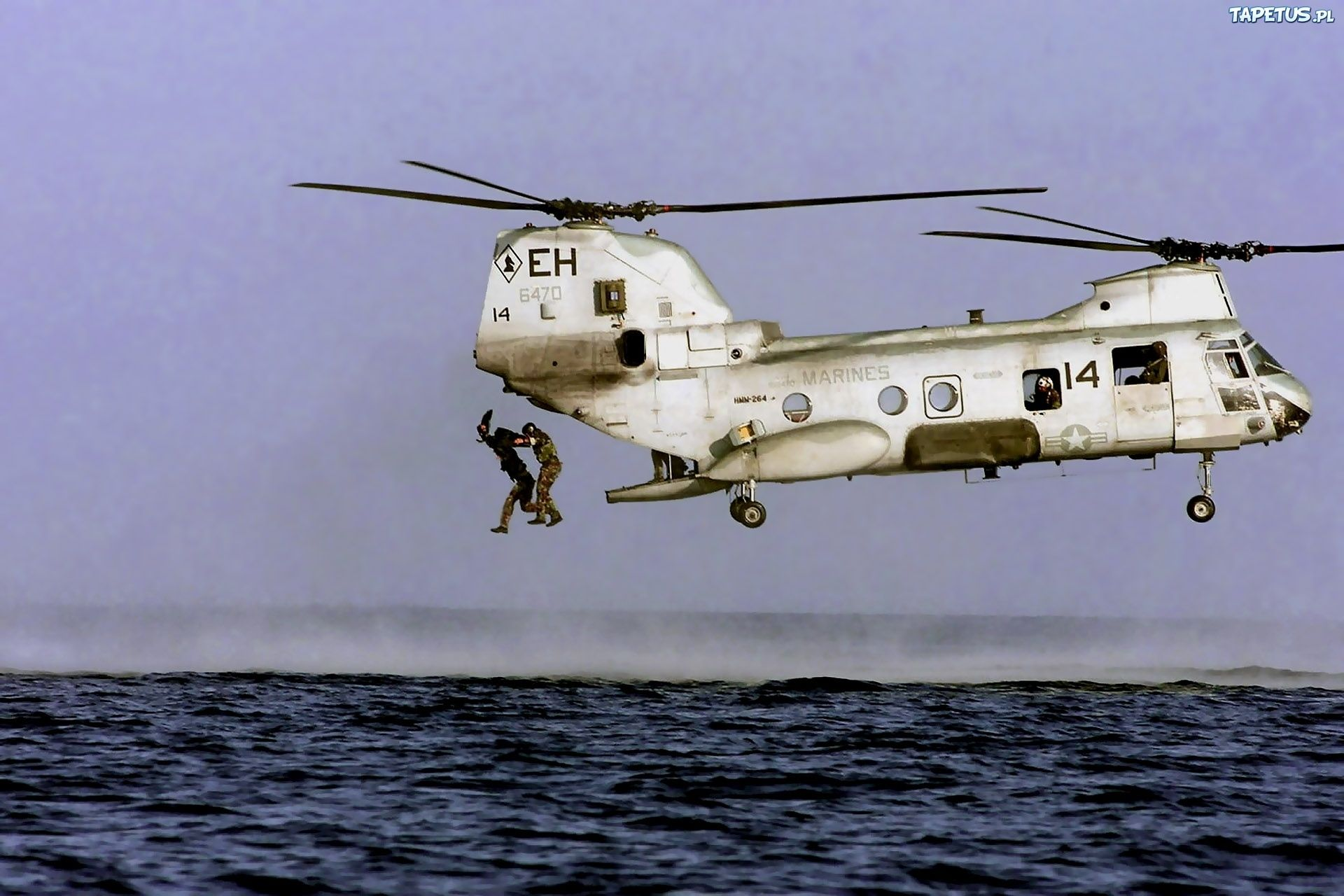 Boeing Vertol Helicopter Ship Old Photo