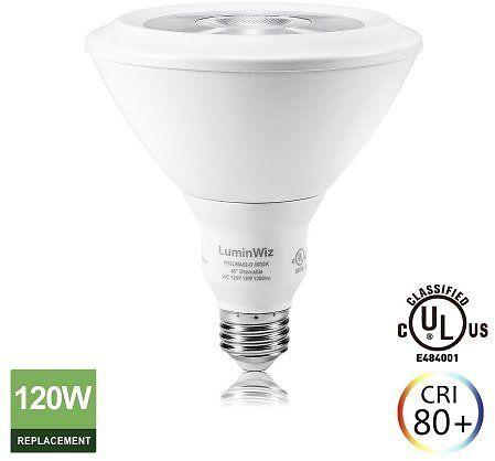 Luminwiz 18w 4000k 1300lm Daylight White Dimmable Par38 Led Bulb Led Light Bulb Flood Light Bulb 120w Equivalent E26 Coupons Discounts Bulb Led Light Bulb