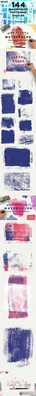 144 Watercolor Ps Brush Bundle 392956