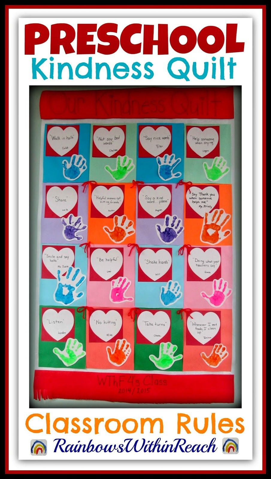 """Kindness Quilt: """"Rules"""" in Preschool {Child's Perspective ..."""
