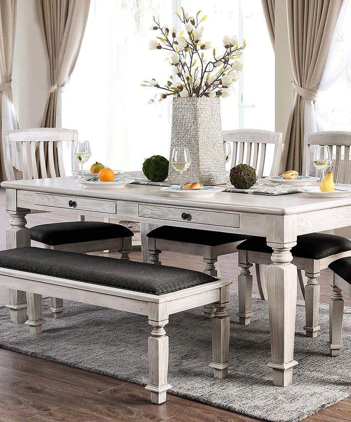 White FourDrawer Jasmine Dining Table affiliate