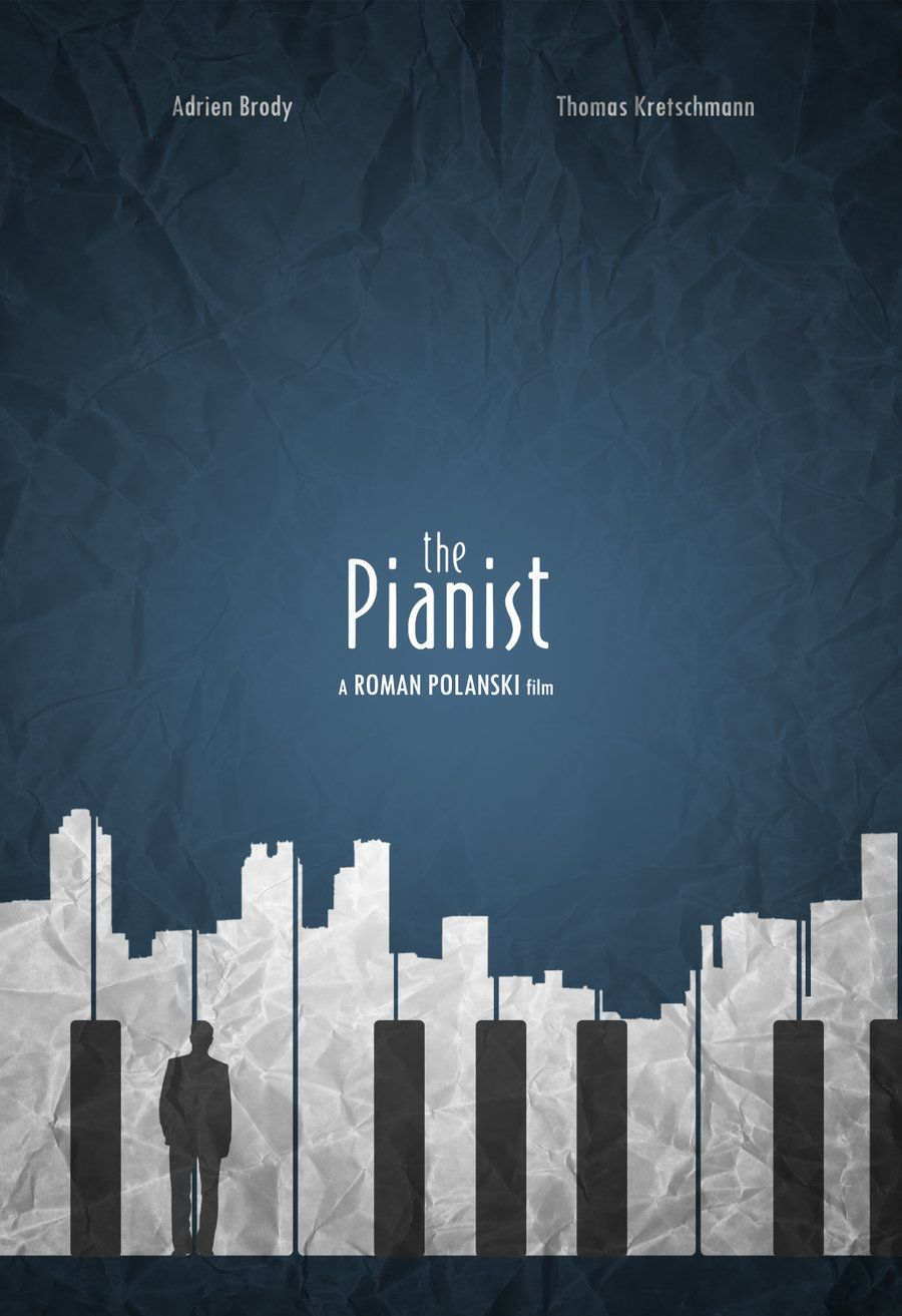 I love this Minimalist version of The pianist poster! | Graphics ... for Creative Poster Designs Inspiration  173lyp
