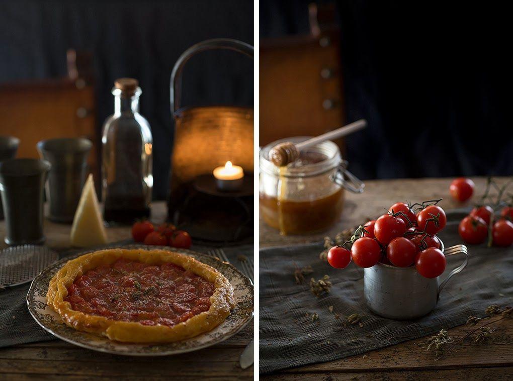 Tarta tatín de tomates cherry