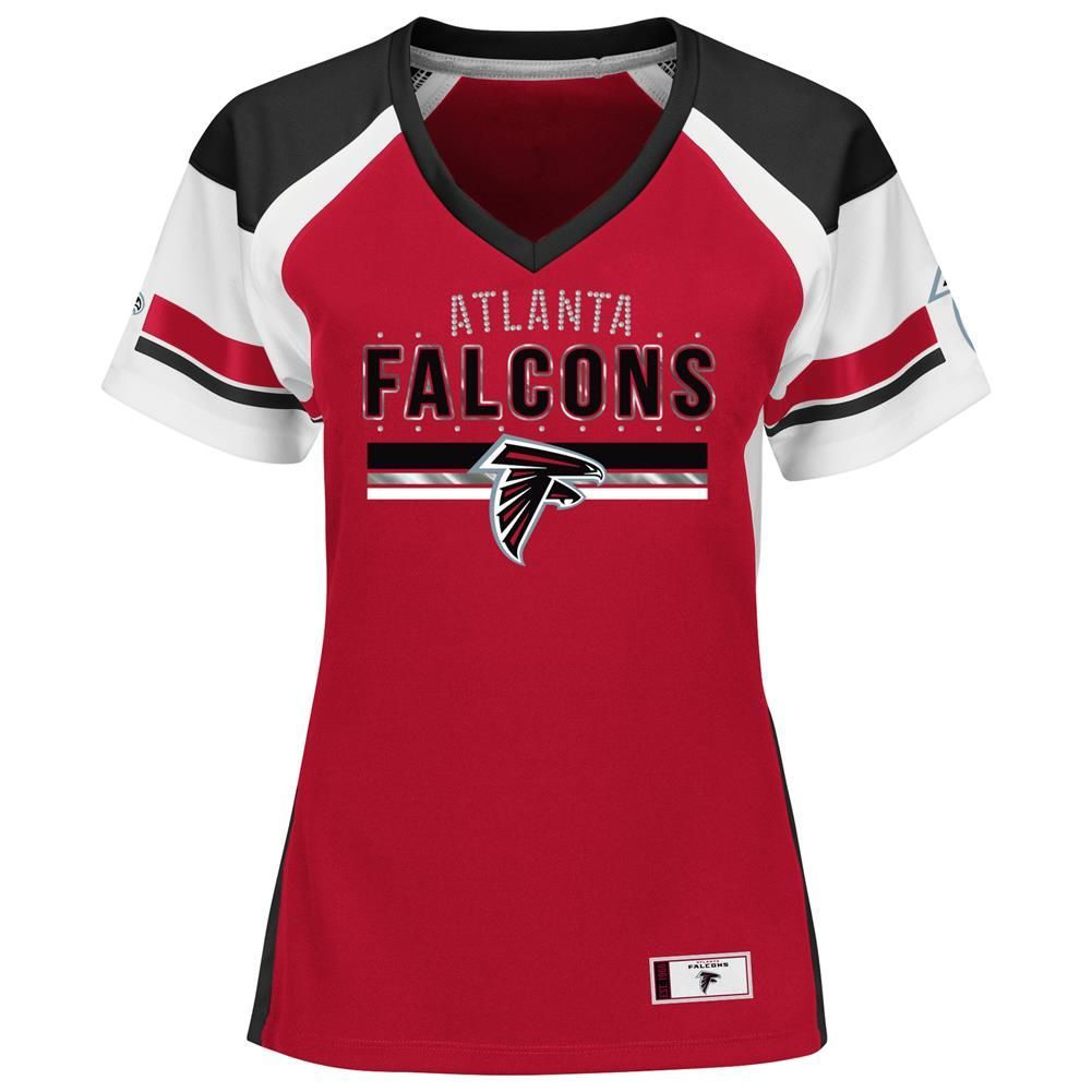 Women s Atlanta Falcons Jersey Draft Me Fashion Top  c02ffc54bb