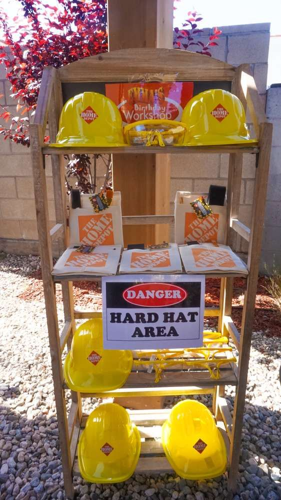 Construction Home Depot Birthday Party Ideas ...