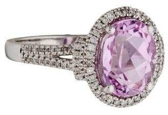 14K Kunzite & Diamond Cocktail Ring