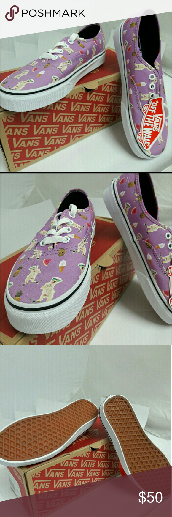 f0a9f4a3dc VANS Auth. Pool Vibes Violet Skateboarding Dog Brand New With Tags and  Box!! Size Womens 8. Purple canvas