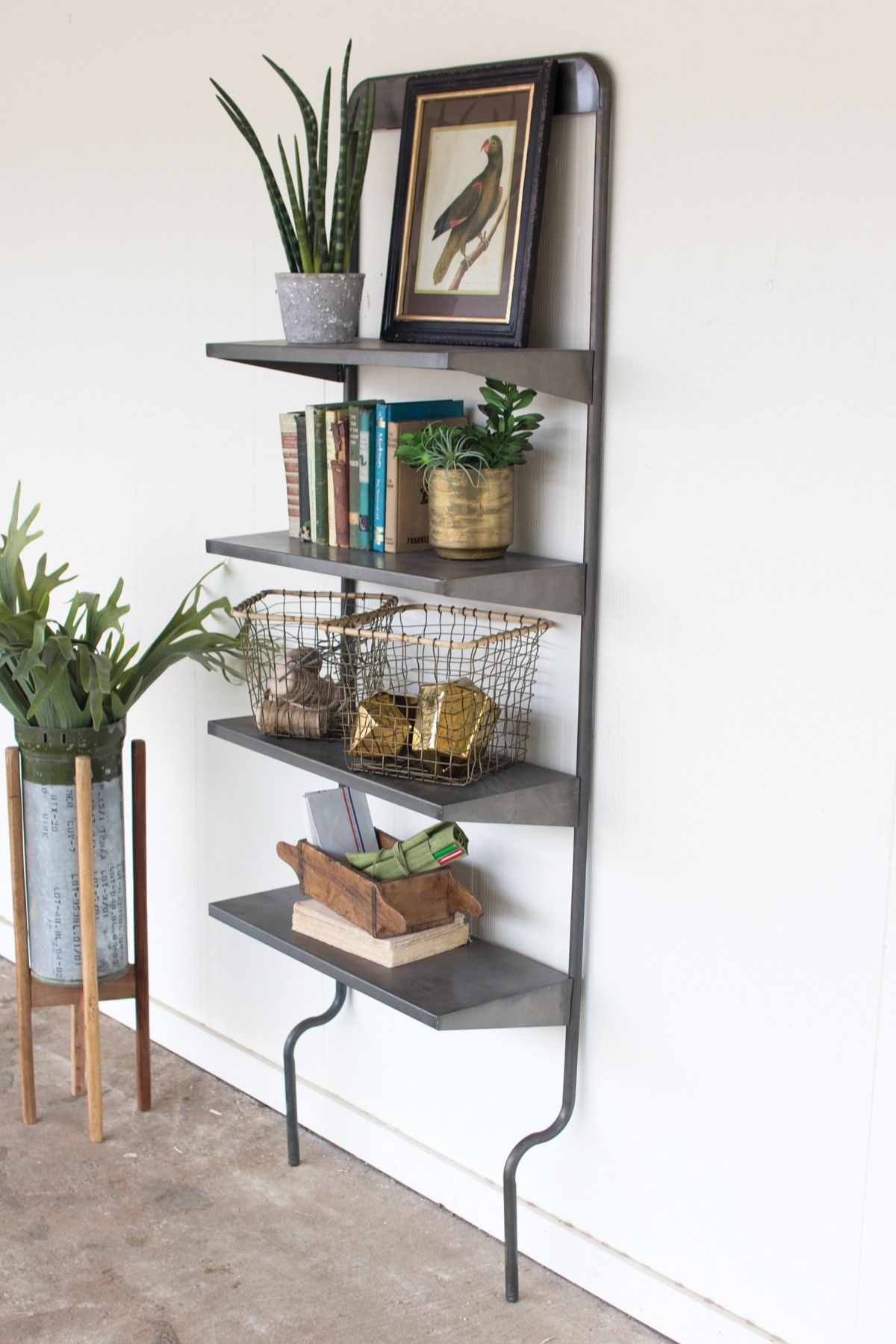Funky metal wall shelf products pinterest metal walls and kalalou metal wall shelf proof that youve been overlooking the hardware store as a source of home dcor inspiration for way too long amipublicfo Images