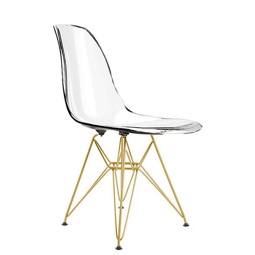 eiffel chair with gold legs