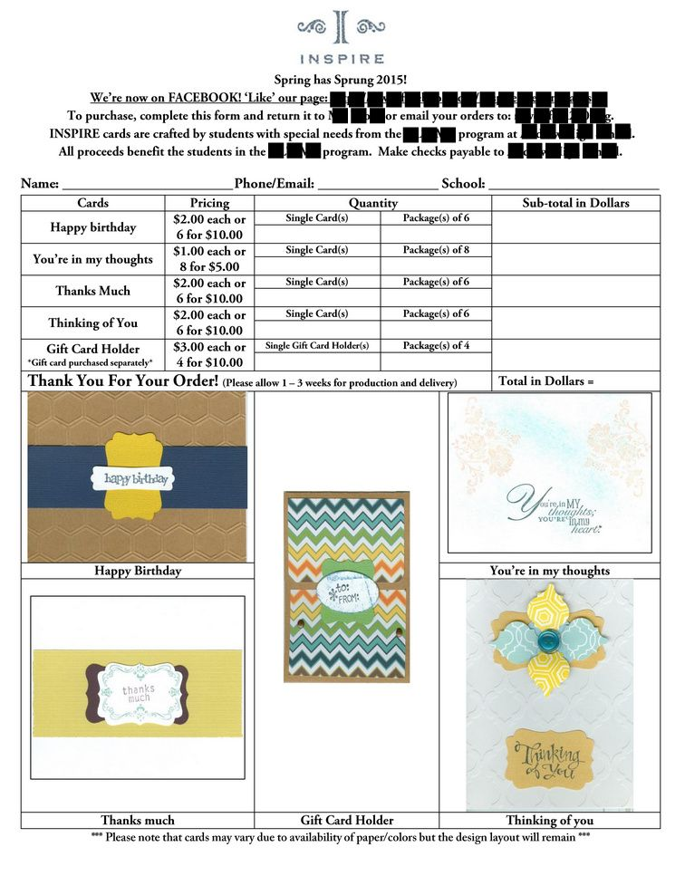 Student Greeting Card Business for Students with Special