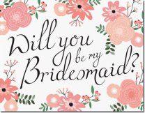 Bridesmaid Card Invitations Announcements Designs