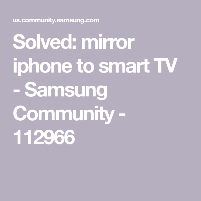 mirror iphone to smart TV (With images) | Smart tv, Vizio ...