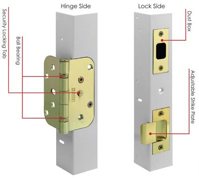 Steel Replacement Frame Entry Door Jambs   HMI Doors   Entry Door ...