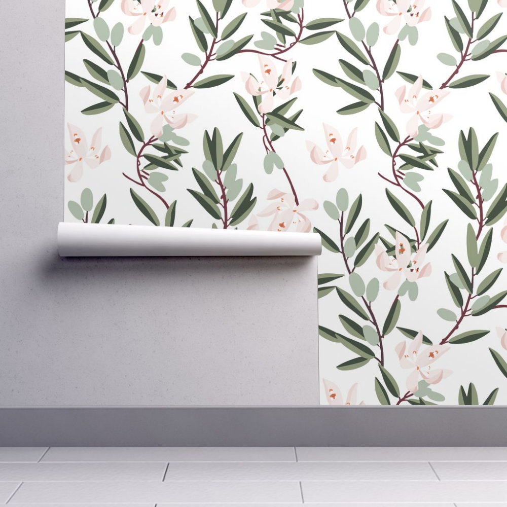Home Improvement Floral wallpaper, Removable wallpaper