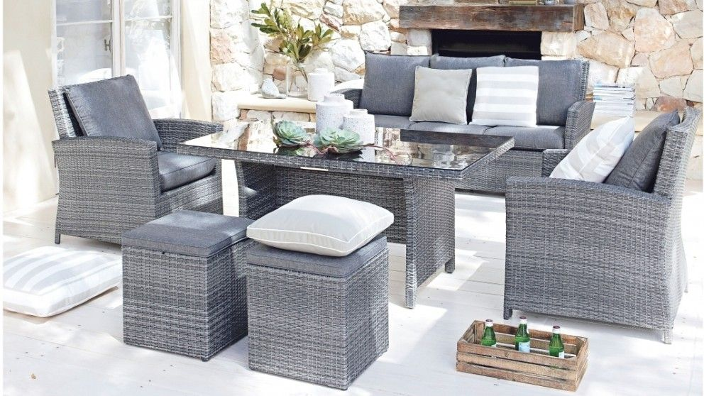 Malta 6 Piece Outdoor Lounge Dining Setting Outdoor Dining