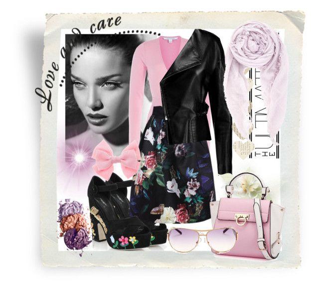 #121 by uptodatefashion-julia on Polyvore featuring Diane Von Furstenberg, Chloé, Dolce&Gabbana, Chan Luu and Marc Jacobs