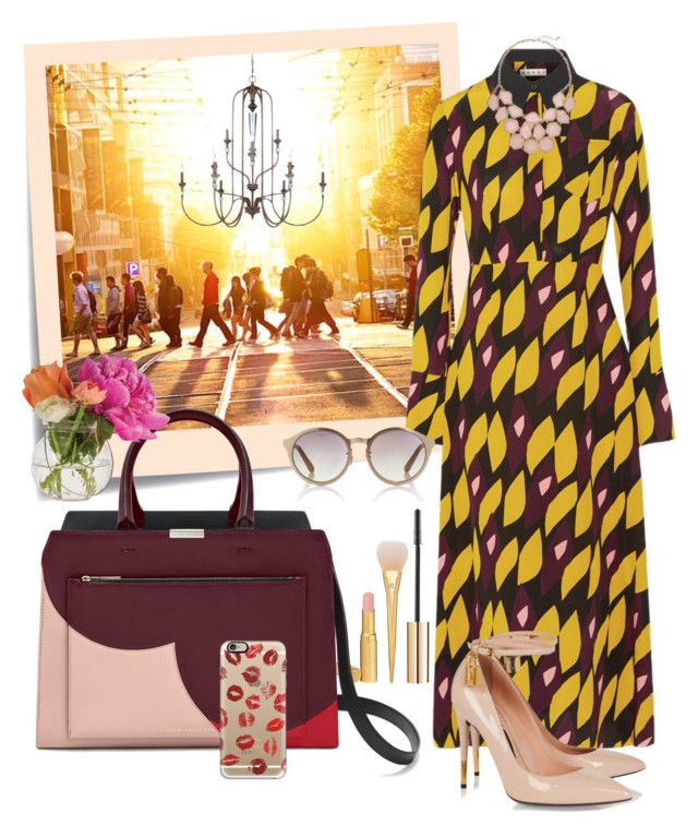"""Morning Call"" by psaraki13 ❤ liked on Polyvore featuring Post-It, Marni, Too Faced Cosmetics, Tom Ford, Linda Farrow, Cultural Intrigue and Casetify"