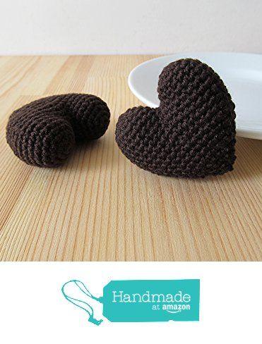 Amigurumi Crochet Bitter Chocolate Heart (Set of 2) - Cake ...