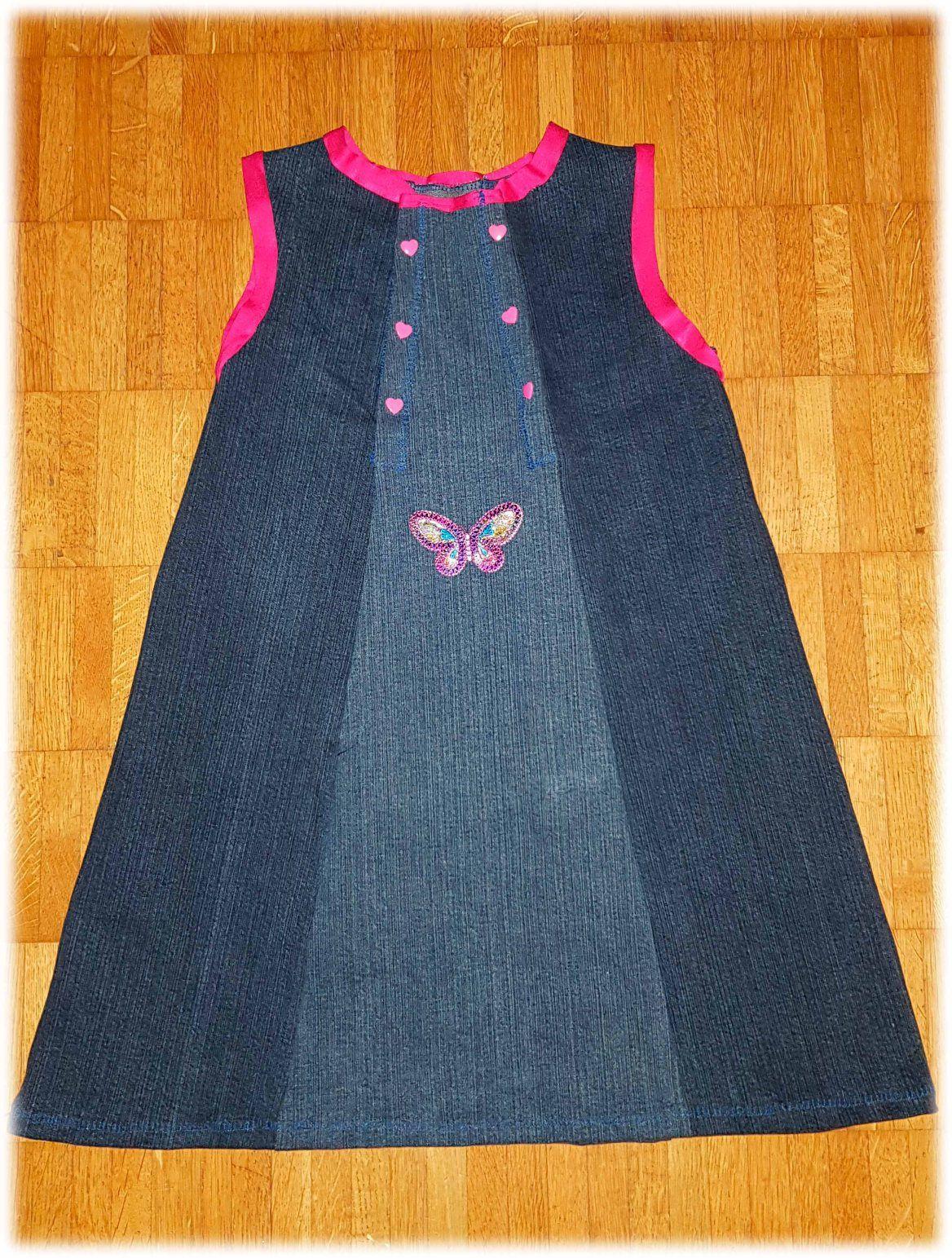 Photo of Upcycling Jeans – Jeanskleidchen aus vier Hosenbeinen – Schnitt Größe 86 – 126