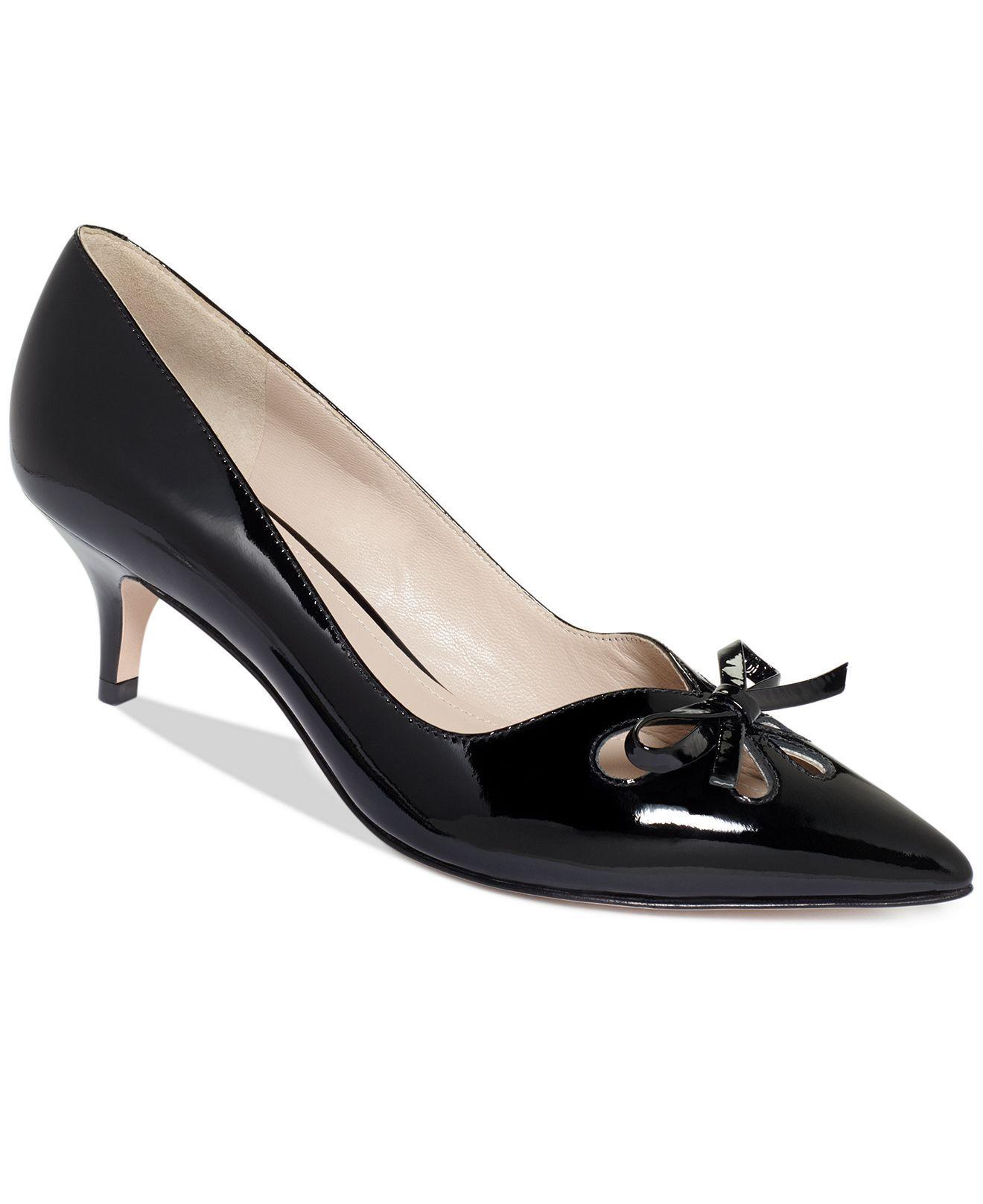 Joan David Gardner Kitten Heel Pumps Shoes Macy S Kitten Heels Heels Joan And David Shoes