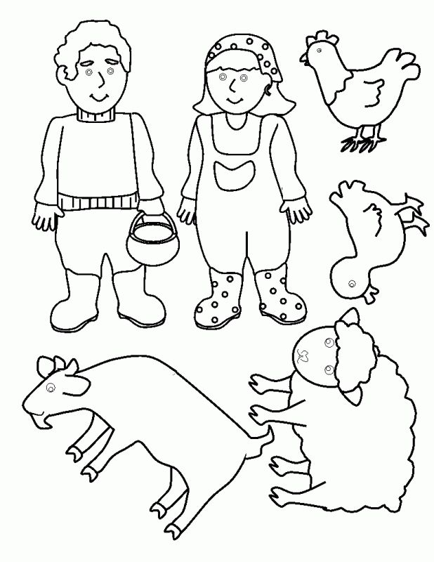 Old Macdonald Had A Farm Coloring Pages Room Renovation Ideas