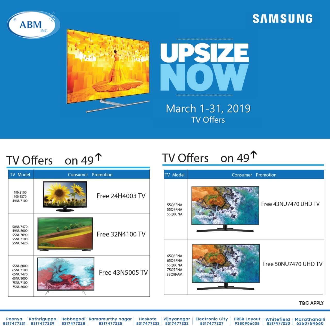 Samsung Upsize Now offer is back again! Exciting TV offers