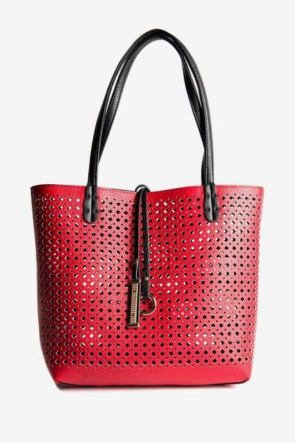 Red Perforated Tote