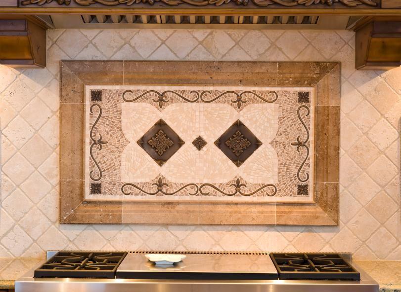 Kitchen Backsplash Water Jet Cut Tile Designs With