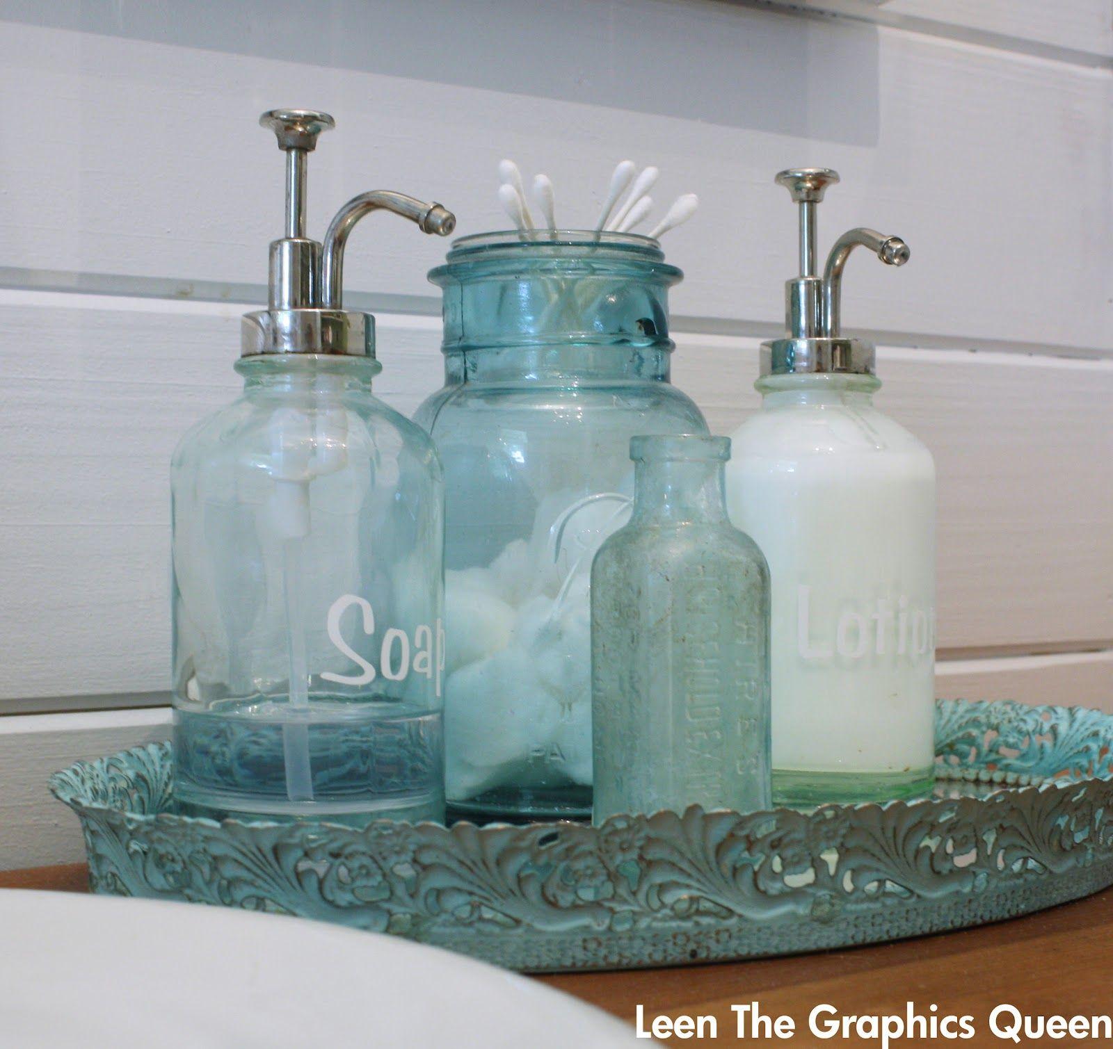 Sea Glass Inspired Bathroom Remodel Beach Theme Bathroom Funny Bathroom Decor Beach Bathroom Decor Sea glass bathroom decor