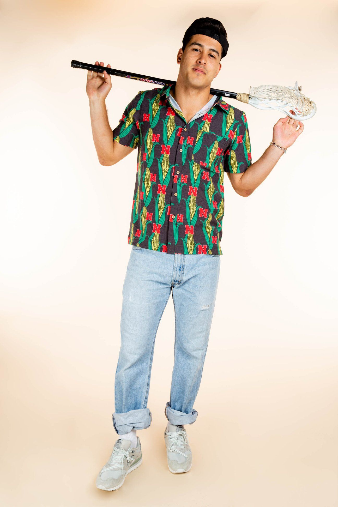 The Husker Shucker Nebraska Corn Hawaiian Shirt Camping Shirt Hawaiian Shirt Casual Button Down Shirt