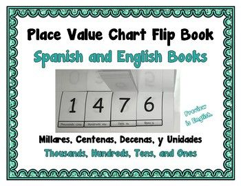Place Value Flip Chart Book Bundle  Spanish And English  Parent