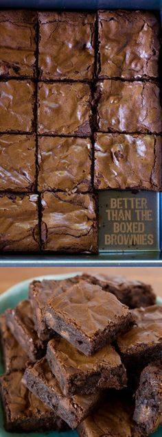Thick  Chewy Better Than The Boxed Brownies Recipe Game changer