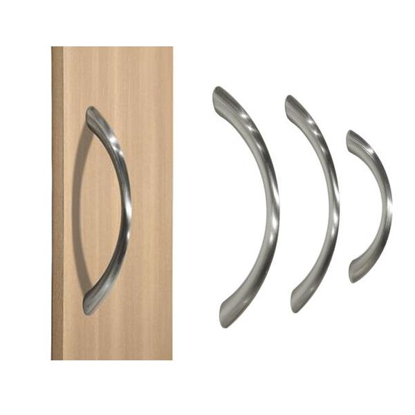 Probrico elegant brushed nickel c bar furniture cabinet handle